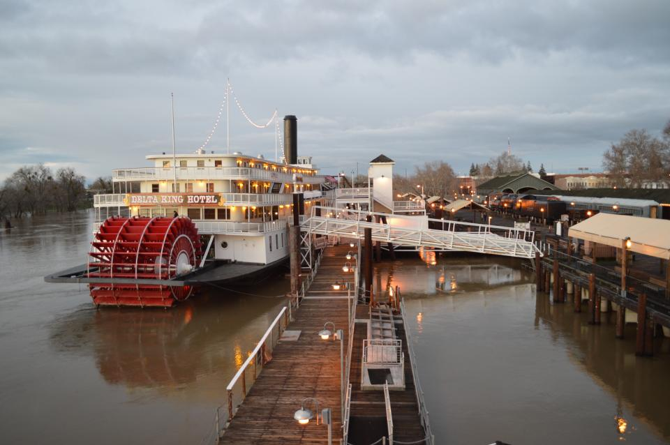 The Delta King Riverboat Old Sacramento Waterfront